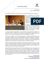 Se celebró en Madrid taller sobre la actividad petrolera ecuatoriana. Foto73