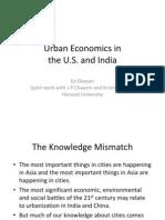 """Prof Ed Glaeser- """"Urban Economics in the US and India"""""""