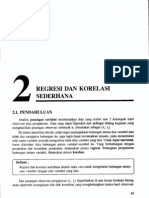 Analisis Korelasi Dan Regresi Sederhana