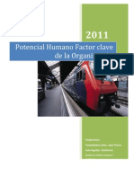 Potencial Humano Factor Clave de La Organizacion