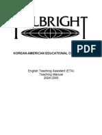 Teaching Manual 2004
