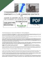 Kintyre Magazine - Kintyre Web and Kist Magazine - Composite Index