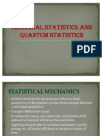 Classical Statistics and Quantum Statistics