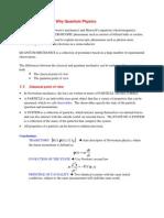 Quantum mechanics course Introductory Concepts