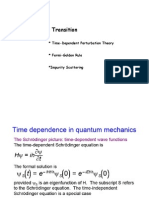 Quantum mechanics course Microsoft Power Point Time Dependent Perturbation Theory
