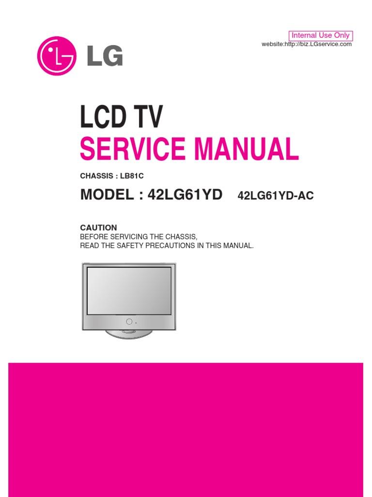 Service Manuals LG TV LCD 42LG61YD 42LG61YD Service Manual | Printed  Circuit Board | Soldering