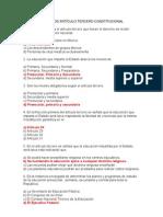 SOBRE EL ARTÍCULO TERCERO CONSTITUCIONALpreguntas