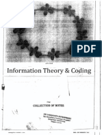 information theory coding 6 sem ec notes