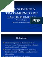 Diagnostico y Tratamiento de Las Demencias1