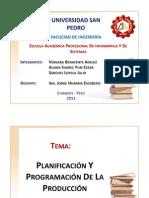 Planificacion Y Programacion de La Produccion