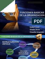 Funciones Basicas de La Organizacion Diaspositivas Power Point 97-2003