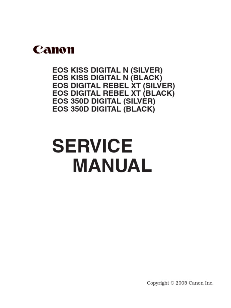 canon eos 350d service and parts copy autofocus canon eos rh es scribd com Canon EOS 350D Accessories Canon EOS 350D Manual