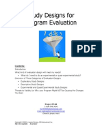 Study Designs for Program Evaluation