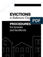 Update Eviction Procedures for Baltimore City and Eviction Letter