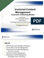 Taxonomic Content Management