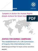 Justice for Burma Campaign 2011 - Background Paper