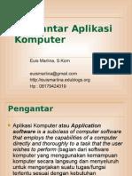 Materi 1 - Pengantar Aplikasi Komputer