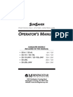 Sunsaver Manual