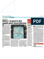 Guerre des applis dans le métro - Le Parisien - 28 juin 2011