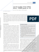 AMEE GUIDE 49, How to Measure the Quality of the OSCE
