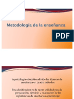 Metodología de la enseñanza