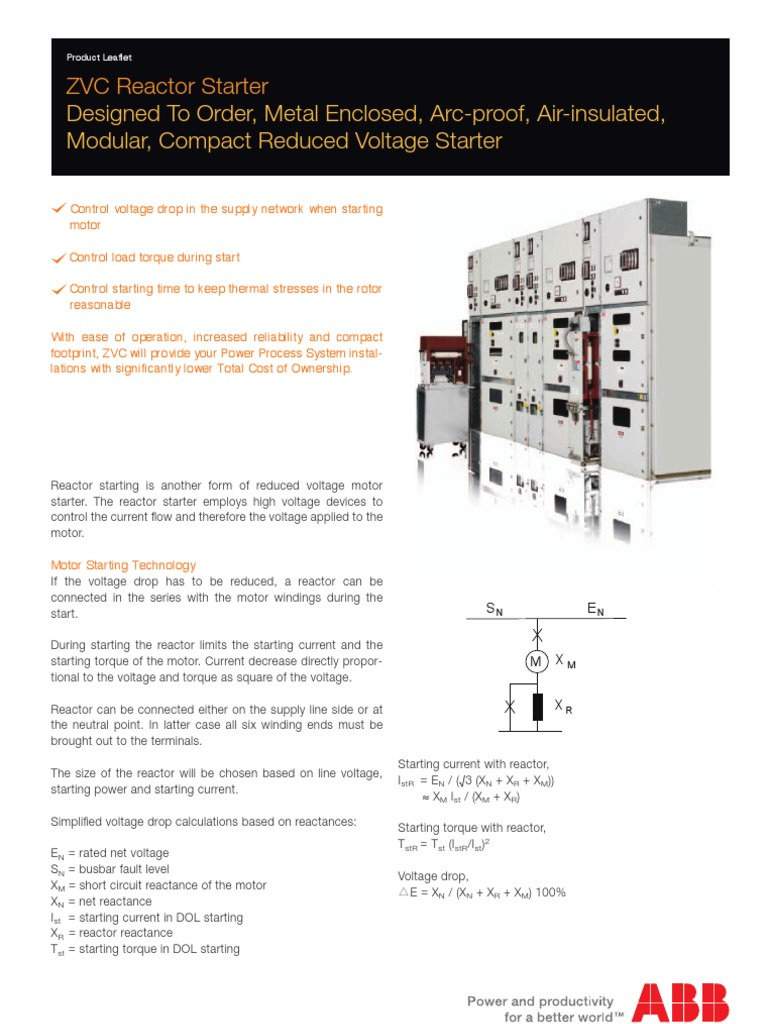 1vga671067 Zvc Reactor Starter Switch Electrical Engineering Dol Wiring Diagram Starting Characteristics On