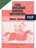 türk ordusunun tarihsel kaynakları
