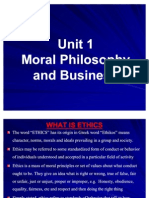 Unit 1 Moral Philosophy and Business