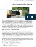Construction &  Project Management for Highway Tunnels
