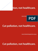 Pollution, not Healthcare Pamphlet