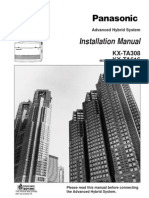 KX-TA308, KX-TA616 Manual de Instalare