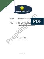 Prepking 70-544VB Exam Questions