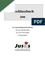 2008 LDK Beschlussbuch Jusos Brandenburg