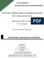 Roteiro PI Controladoria BSC
