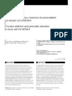 Cocana y Personal Id Ad Segun MCMI-II
