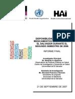 Disponibilidad y Precio de Medicamentos Esenciales en El Salvador