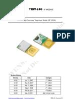 TRW-24G 2.4GHz RF Tranceiver Module Data Sheet E