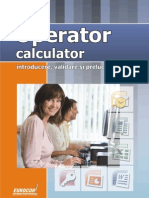 10021 Lectie Demo Operator Calculator - Introduce Re Prelucrare Si Validare Date