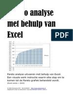 Pareto Analyse Met Behulp Van Excel (W84)