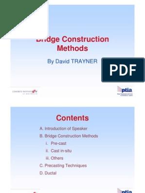 Bridge Construction Methods   Prestressed Concrete   Precast