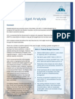Final Federal Budget Analysis