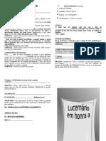 LUCERNÁRIO PARA NOVENÁRIOS