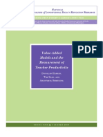 Value-Added Models and the Measurement of Teacher Productivity