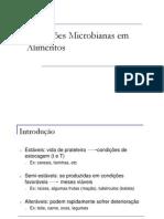Alterações Microbianas em Alimentos