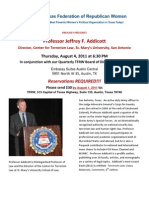 Professor Jeffrey F. Addicott Speaking in Austin