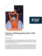 Theories of Disintegration of the USSR by Hillel Ticktin