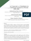 A Abertura Comercial e a Volatilidade Da Producao Industrial