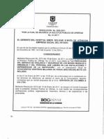 Resolucion de Adjudicacion 020 del 26 de Enero de 2011 SPO-01-2011