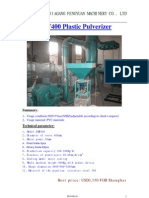 SMF400 Plastic Pulverizer