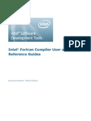 Intel Fortran Compiler User Guide